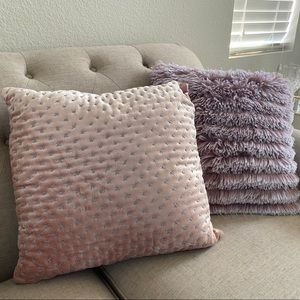 Set of two accent pillows